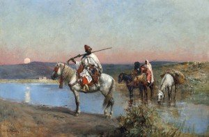 Edwin Lord Weeks - Fording a Stream